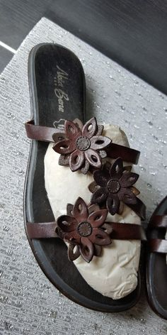 Sandales plates Nota Bene cuir T.36