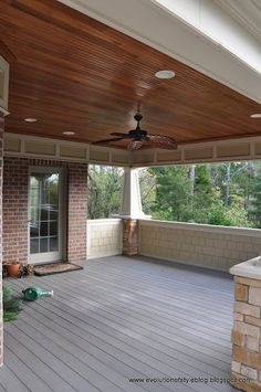 evolution of style taking it outside covered porch reveal love those shakes - Patio Ceiling Ideas