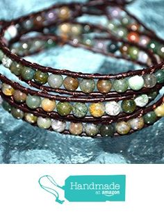 3 Wrap Bracelet Indian Agate Bracelet Leather Bracelet Leather Wrap Bracelet Beaded Bracelet Healing Wrist Bracelet Bangle - Approx. 4 mm Round Gemstones Beads - US SELLER from AwakenYourKundalini https://www.amazon.com/dp/B01FWW2K5I/ref=hnd_sw_r_pi_dp_tssNxbW0JA3T8 #handmadeatamazon