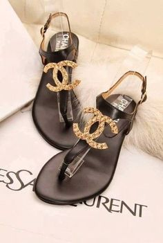 chanel sandals <3