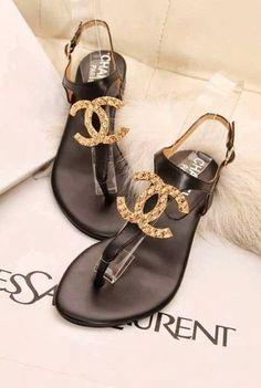 chanel sandals <3