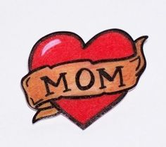 20 Trendy Ideas For Classic Mom Heart Tattoo Retro Tattoos, Trendy Tattoos, New Tattoos, Tatoos, Vintage Tattoos, Dragon Tattoos, Mom Heart Tattoo, Mum Tattoo, Mother Tattoos