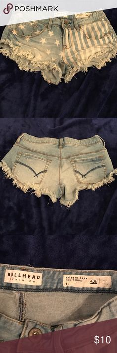 Bullhead denim shorts from PacSun Bullhead Stars and Stripes denim shorts. Size 1. Disclaimer: very short Bullhead Shorts Jean Shorts
