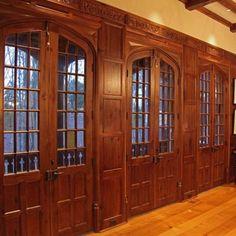 Beautiful English doors & paneling.