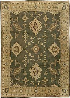 Antique rugs NYC, Turkish Oushak Rug BB6101