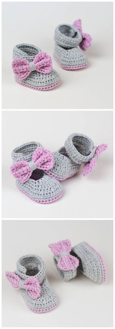 16 Free Crochet Baby Booties This pattern is written in rounds. At the end of each round join the round with a ss, that is just a joining stitch and does not count as a real stitch. Crochet Bebe, Baby Girl Crochet, Crochet Baby Shoes, Crochet Baby Clothes, Cute Crochet, Crochet For Kids, Crochet Crafts, Crochet Yarn, Crochet Projects
