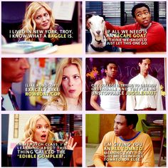 Why Troy and Britta are perfect for each other. #community