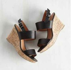 These cork wedges that add a little extra cushion to your step.