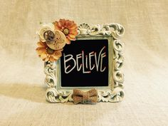 "Find Your Peace © ""Just because..."" Mini Frame with Flower Accent"