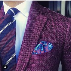 danielmeul: Jacket - linen silk and cashmere by @stile_latino #shirt by @finamore1925 tie and pocket square by @violamilano