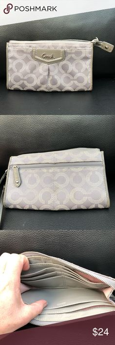Coach wallet Nice coach wallet fits credit cards and iPhones Coach Bags Clutches & Wristlets