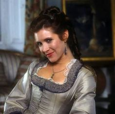 Leia in period costume. Carrie Fisher in Frankenstein. Star Trek, Leia Star Wars, Star Wars Film, Debbie Reynolds Carrie Fisher, Carrie Frances Fisher, The Blues Brothers, Han And Leia, Bros, Harrison Ford