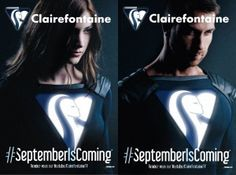 Clairefontaine 2015 : TRANSHUMANISME + empowerment du consommateur + starification de la marque. La thématique Super Héros omniprésente à la rentrée!