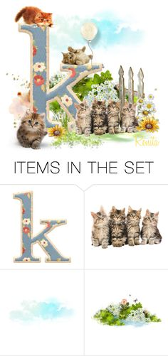 """K is for Kittens"" by youaresofashion ❤ liked on Polyvore featuring art"