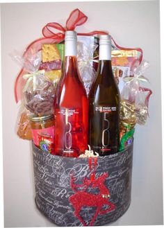Wine basket i made for a bridal sower awesome ideas pinterest wine gift baskets kelownagifts kelownareal estate kelowna giftsokanagan wine baskets negle Gallery