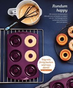 Tupperware Katalog 2017 Page 8 Tupperware Katalog, Baked Donuts, Kitchen Products, Cookware, Homework, Presentation, Winter, Collection, Home Made