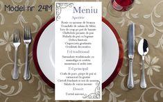 Wedding Menu, Personalized Items, Tableware, Floral, Dinnerware, Wedding Dinner Menu, Dishes, Flowers, Flower