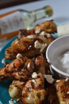 Greek Style Grilled Wings #SundaySuper