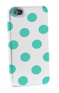 Mint Polka Dots iPhone 4/4s Case by shoppronetowander on Etsy