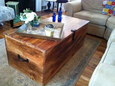 Wood Shipping Crate Coffee Table by reclaimedbychuck on Etsy, $450.00
