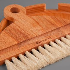 Wooden Broom and Dustpan