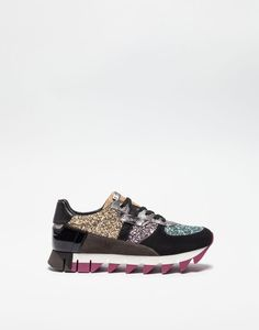 SUEDE SNEAKERS WITH MIXED MATERIAL DETAILS