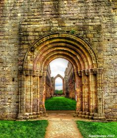 Fountains Abbey Archway , North Yorkshire, England