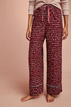a71d4ccb8392d Popular discontinued tree print in burgundy color sleep pant / pajamas /  lounge from Anthropologie. Made by Floreat.