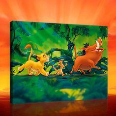 Tableau Simba Pumba Timon Le Roi Lion Disney - 40 x 60 cm WORLDS APART