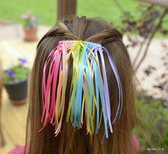 Pastel Rainbow Sherbert Waterfall Barrette