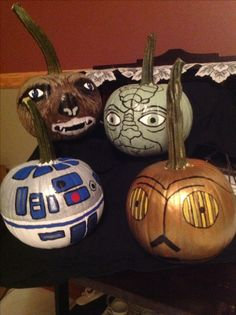Star Wars.  halloween painted pumpkins