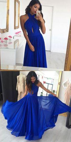 Simple Chiffon Long Prom Dress Semi Formal Dresses Wedding Party Dress LP109