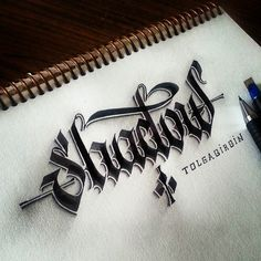 Lettering with Parallelpen&Pencil.
