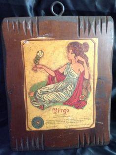 Vintage Wooden Virgo Zodiac Sign Wall Plaque Wood Hanging Retro Astrology Art Virgo Sign, Leo And Virgo, Virgo Zodiac, Zodiac Signs, Wall Candy, Google Plus, Wood Plaques, Gag Gifts, Vintage Walls