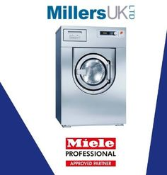 Miele Washer Miele Profitronic Washer L Vario (Drain Pump or Dump Valve Options) Washing Machine. Available in blue or stainless steel.