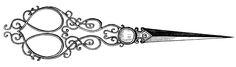 Vintage Clip Art - Fancy Sewing Scissors - The Graphics Fairy