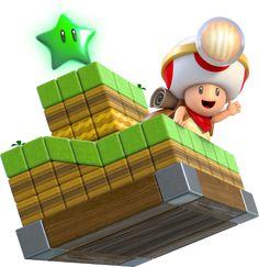 Toad Brigade Captain Artwork - Super Mario 3D World
