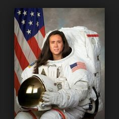 Astronaut Cage | 50 Life-Changing Nicolas Cage Photoshops That Prove He's A National Treasure