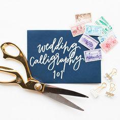 Wedding Calligraphy 101 with POPPYjack SHOP