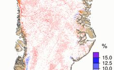 Two Maps Show Greenland's Sudden Melt Season Onset Ice Ice Baby, Climate Change, Maps, Tapestry, Seasons, Suddenly, Warm Weather, Science, Earth