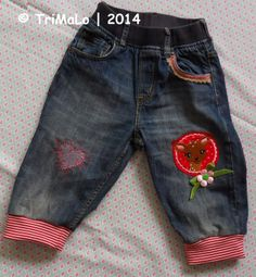 Jungshosen-Upcycling / Upcycled old and torn boys' jeans