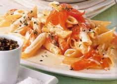 Penne with Creamy Italian Sauce and Salmon