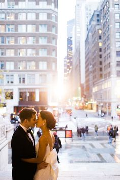 A Manhattan wedding with a couple as chic as these two is bound to be a glamorous affair. Combine this stunning couple and the classic backdrop of the city with flawless photography from Trent Bailey Photography and you've got a wedding seriously worth lusting over.