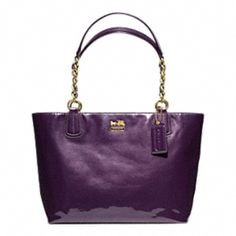 MADISON PATENT TOTE from COACH - want one in EVERY color