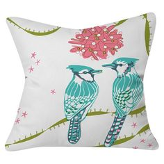 "Holiday Birds Throw Pillow Blue (20""x20"") - Deny Designs® at Target. Affiliate link."