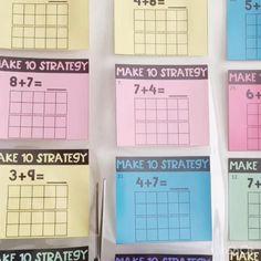 Creative Activities For Kids, Math For Kids, Fun Math, Math Strategies, Math Resources, Math Help, Learn Math, 2nd Grade Activities, Math Rotations