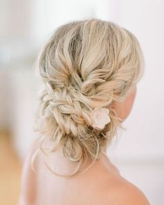 braided wedding updo hairstyle via Vienna Glenn Photography - Deer Pearl Flowers / http://www.deerpearlflowers.com/wedding-hairstyle-inspiration/braided-wedding-updo-hairstyle-via-vienna-glenn-photography/
