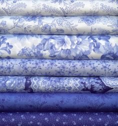 Summer Breeze II Blue and White by Sentimental Studios for Moda 5 Fat Quarters…