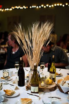 wheat centerpieces. from a cape breton wedding no less!