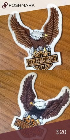 Vintage Harley Davidson eagle patch! Vintage Harley Davidson eagle patch! The adhesive on the bad is long gone, so you would have to buy new adhesive or sew it on! Vintage Other
